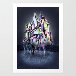 Crystal night Art Print