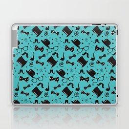 Hipster Elements Pattern on blue Laptop & iPad Skin