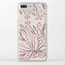 Growing of sorrow Clear iPhone Case