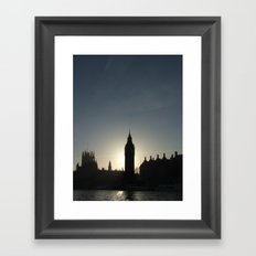 Big Ben Sunset Framed Art Print