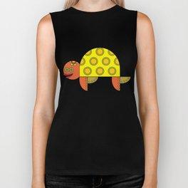 Stylize fantasy turtle under water Biker Tank