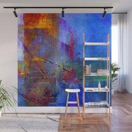 Intensity of Blue Digital Painting Wall Mural