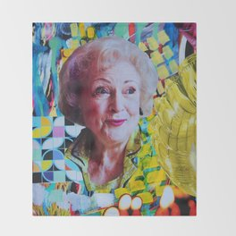 Betty White Throw Blanket