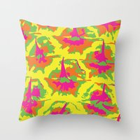 preppy Throw Pillows featuring Preppy Pineapple by Kristin Seymour