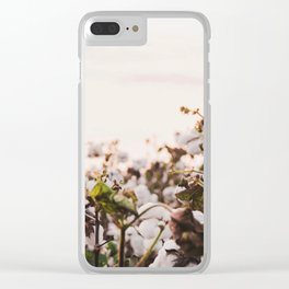 Cotton Field 6 Clear iPhone Case