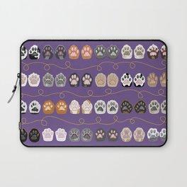 Toe Beans on Purple / Cat Paws Laptop Sleeve