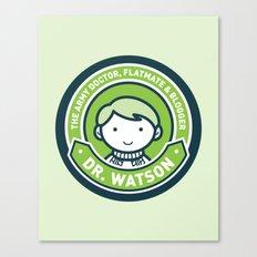 Cute John Watson - Green Canvas Print
