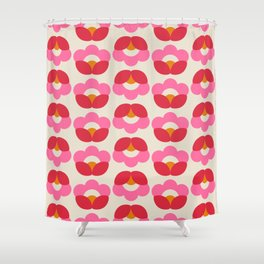 Flowers geometry - retro pattern no2 Shower Curtain