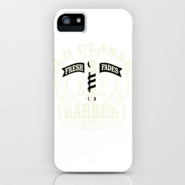 Old Classic Barber Shop - Fresh Fades iPhone Case