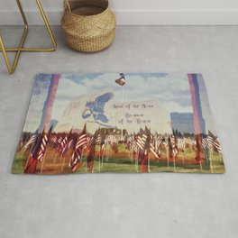 Land Of The Free Because Of The Brave Rug
