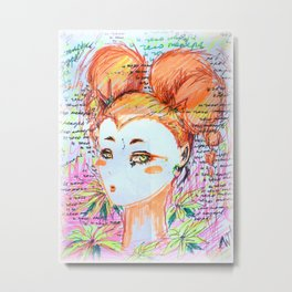 intrusive thoughts Metal Print