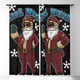 Police Navidad - Feliz Navidad - Christmas Cop Blackout Curtain