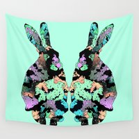 hare Wall Tapestries featuring Hare Twins by Jaroslaw Danilenko