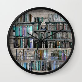forest cabin library Wall Clock