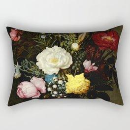 """Ambrosius Bosschaert the Elder """"Bouquet of Flowers in a Glass Vase"""" Rectangular Pillow"""