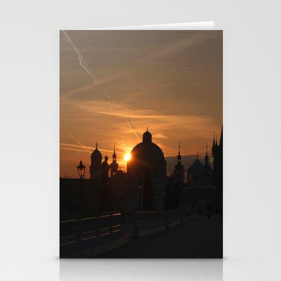 Sunrise Charles Bridge Stationery Cards