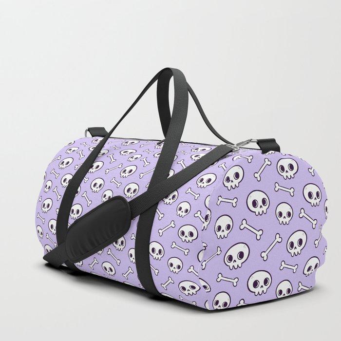 Cute Skulls Purple Duffle Bag