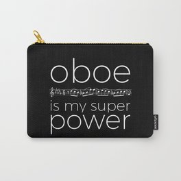 Oboe is my super power (black) Carry-All Pouch