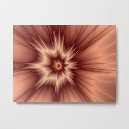 Fractal Radiate Flower Metal Print