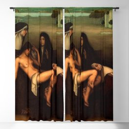 1915 Classical Masterpiece 'The Grace' by Julio Romero de Torres Blackout Curtain
