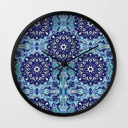 blue sky tile Wall Clock