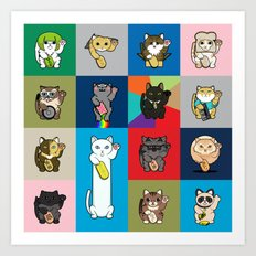 Lucky Cats - LOLcats Art Print