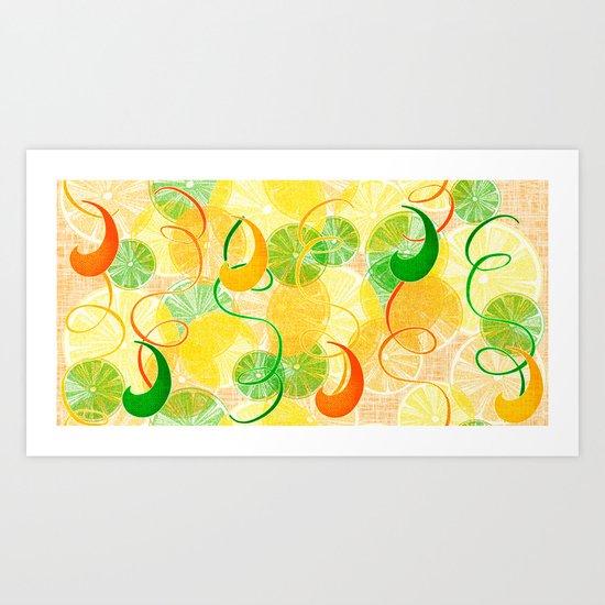 Citrus Parade Art Print