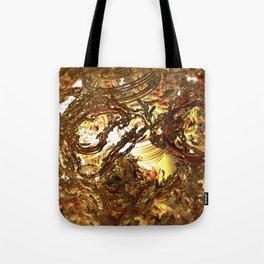 Geometric melting gold foundry digital illustration Tote Bag