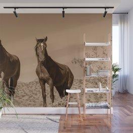 Wild_Horses Sepia 3501 - Nevada Wall Mural