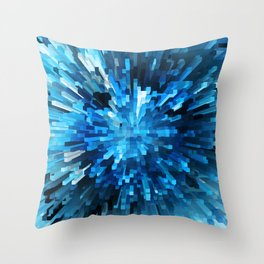 Extended Rectangles - Blue Throw Pillow