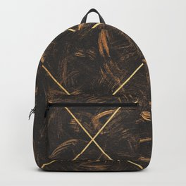 Gold & Paint Strokes 01 Backpack