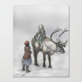 The Little Robber Girl Canvas Print