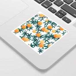 Orange Twist Flower Vibes #2 #tropical #fruit #decor #art #society6 Sticker