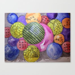 Zentangle Bubbles Canvas Print