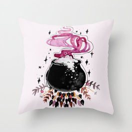 Fire Burn and Cauldron Bubble Throw Pillow