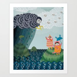 grumpy grumpy Art Print