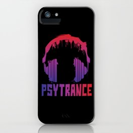 Psytrance headphones iPhone Case