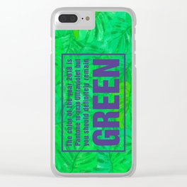 Green and Ultra Violet Clear iPhone Case