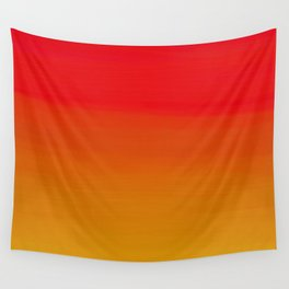 Red Apple and Golden Honey Ombre Sunset Wall Tapestry