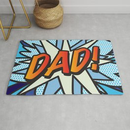 Comic Book DAD! Rug