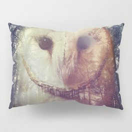 Merge owl and forest reflection Pillow Sham