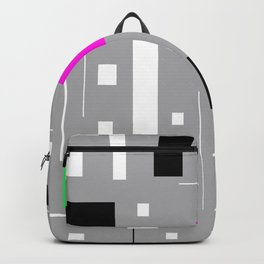 Retro tv abstract Geometric Pattern design Backpack