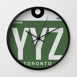 YYZ Toronto Luggage Tag 1 Wall Clock