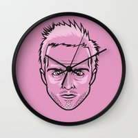 jesse pinkman Wall Clocks featuring Jesse Pinkman by Joshua Ariza