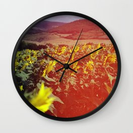 Sea of Sunflowers Wall Clock