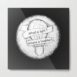 what is light ? where is laughter ? - Twin Atlantic Metal Print