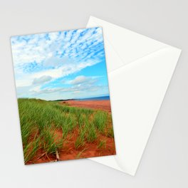Red Dunes and Beach Grass Stationery Cards