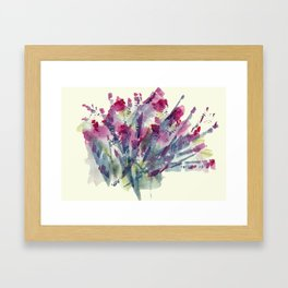 Flower Impression / Bursting Bouquet Framed Art Print