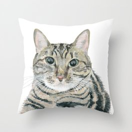 The portrait of the cat Throw Pillow