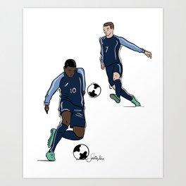 Fifa World Cup Champions Mbappé & Griezmann France Art Print
